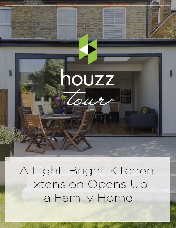 Kitchen Tour: A Light, Bright Kitchen Extension Opens Up a Family Home on Houzz