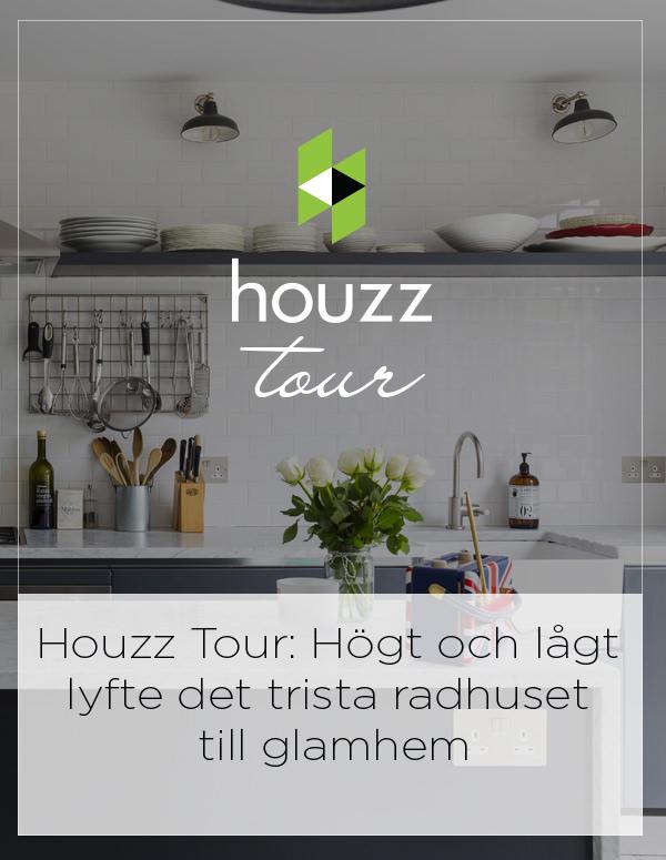 Houzz Tour Sweden: Högt och lågt lyfte det trista radhuset till glamhem
