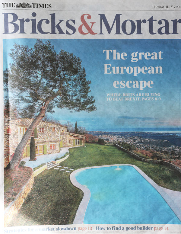 The Times: Bricks & Mortar Feature 7 July 2017