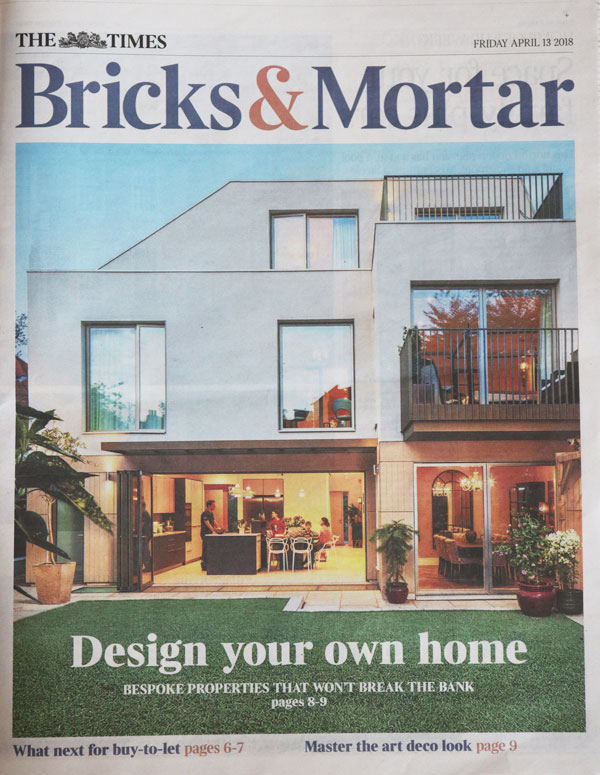 The Times: Bricks & Mortar Feature 13 April 2018