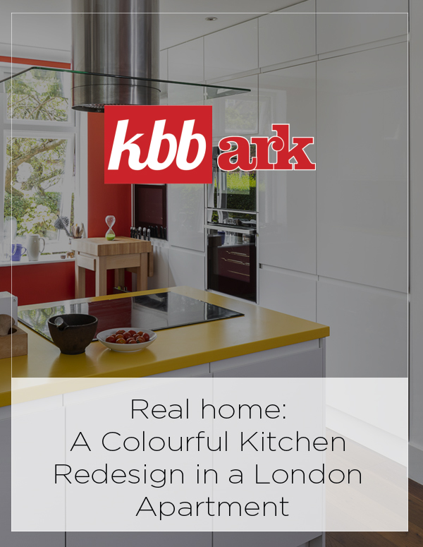 KBBArk: Real Home: A Colourful Kitchen Redesign In a London Apartment