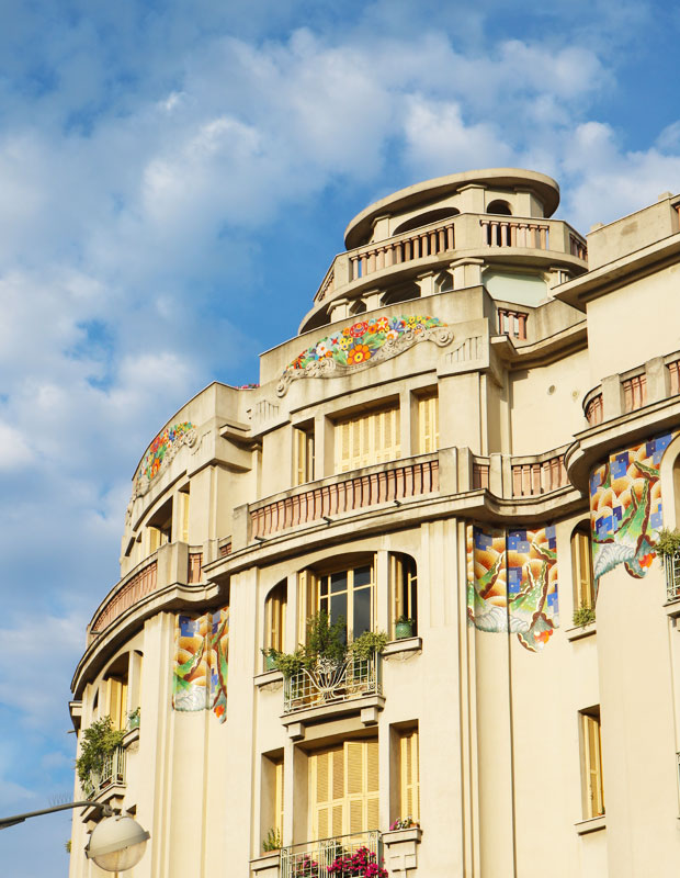 Art Deco Architecture in Nice, France