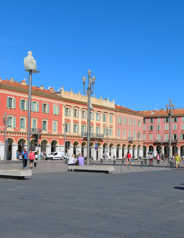 Neoclassical Architecture in Nice, France